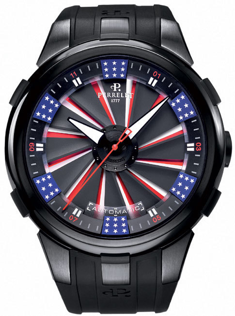 Perrelet Turbine XL America :  la montre des « supers héros »