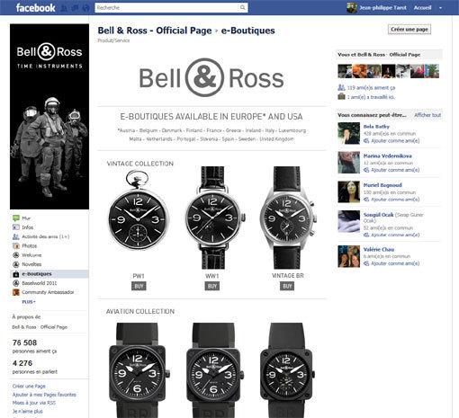 Bell & Ross : ouverture d'une boutique en ligne sur Facebook !