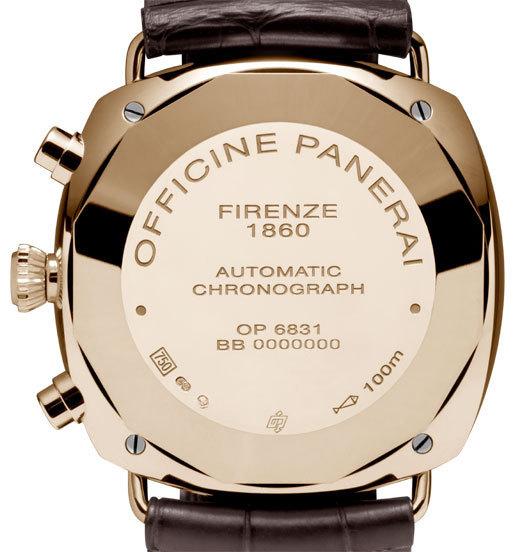 Officine Panerai Radiomir Chronographe Oro Rosa : 42 mm d'élégance et de classe italienne