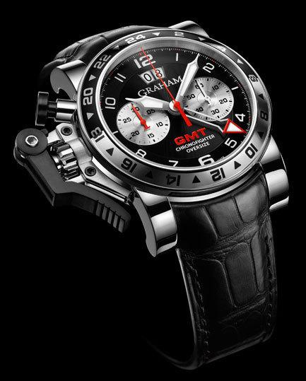 Graham London Chronofighter Oversize GMT Black Steel