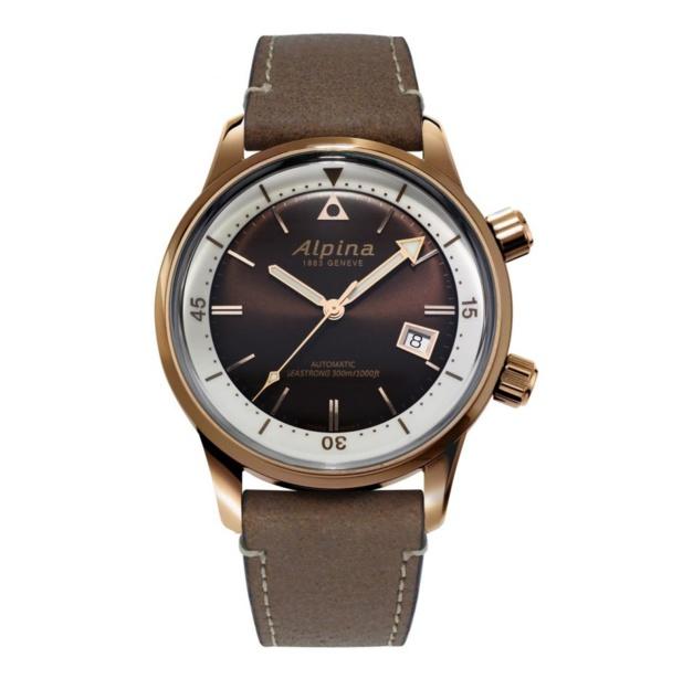 "Alpina Seastrong Diver Heritage : une ""bronzo"" d'allure vintage"