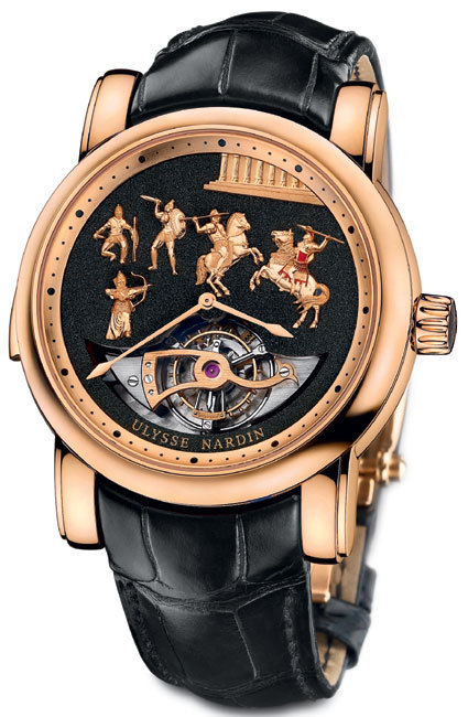 Ulysse Nardin Répétition minutes Alexander the Great Westminster Carillon Tourbillon Jaquemarts : Mi Do Ré Sol