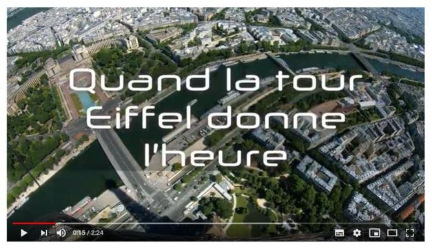 Quand la tour Eiffel donne l'heure : court-métrage présenté à l'occasion de Timeworld