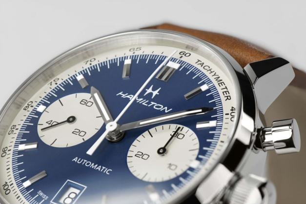 Hamilton Intra-Matic 68 blue dial
