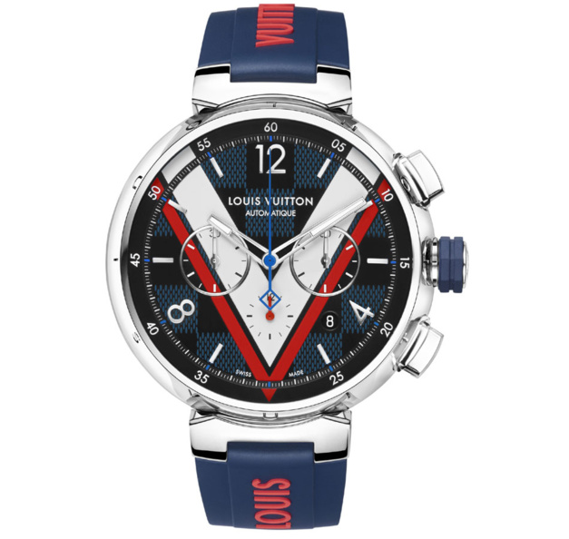 Louis Vuitton Tambour Damier Cobalt Chronographe