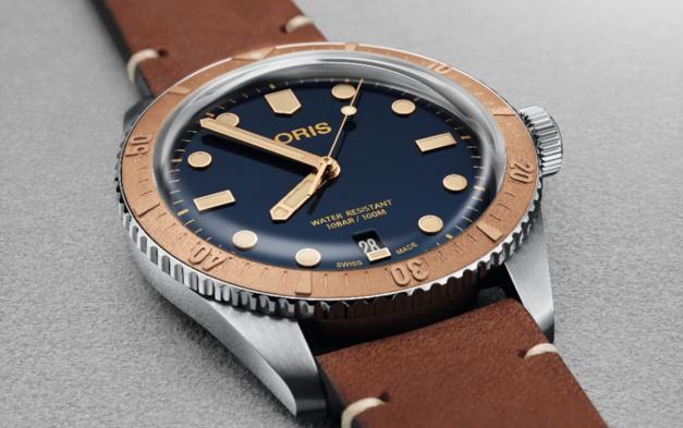 Oris Diver Sixty-Five acier et bronze