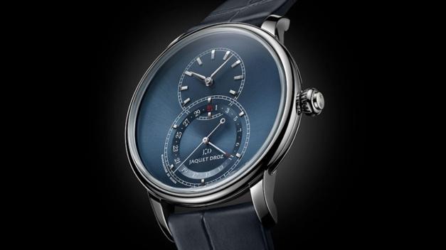Jaquez Droz Grande Seconde Quantième : l'heure bleue en 39 ou 43 mm