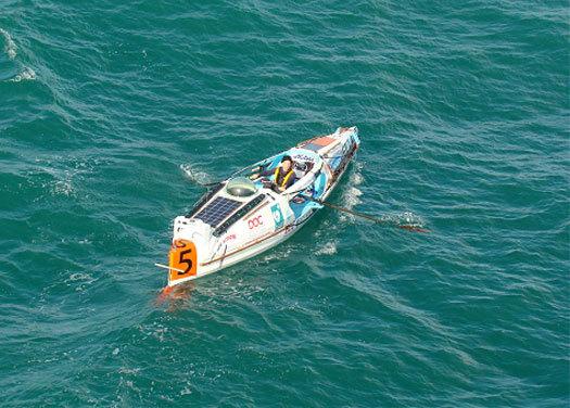 Christophe Dupuy et sa Ralf Tech traversent l'Atlantique… à la rame !