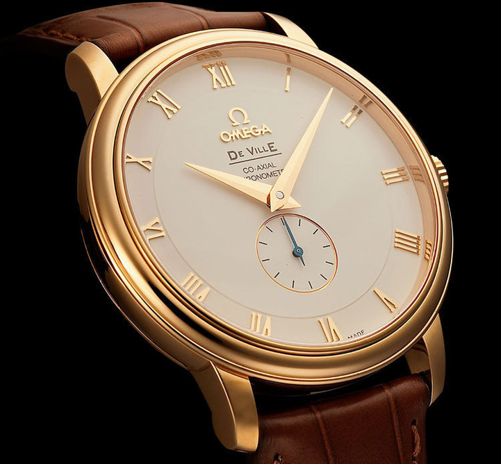 Omega DeVille Prestige en or jaune, 39 mm, calibre co-axial