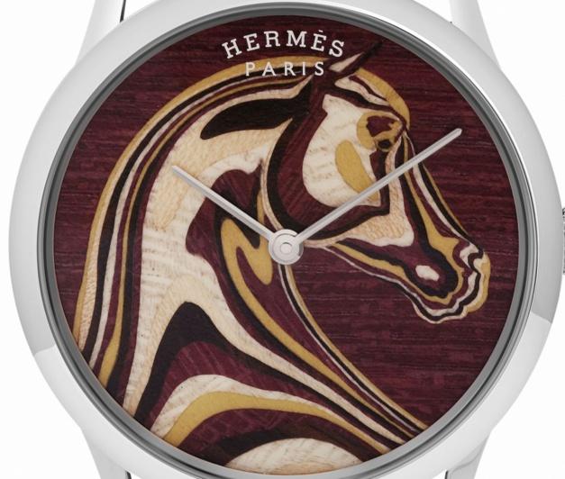La Slim d'Hermès en marqueterie de bois : unique par essence !
