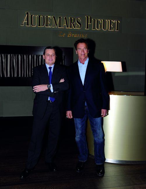 Philippe Merk, PDG de la marque et nold Schwarzenegger