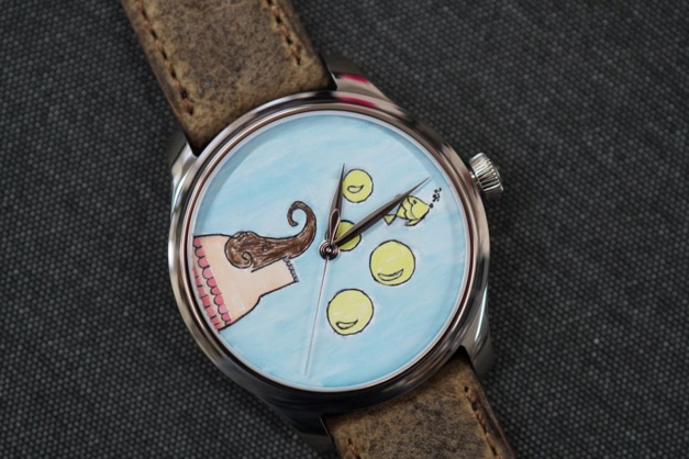 Moser : deux montres uniques aux cadrans dessinés par des enfants pour la cause des enfants
