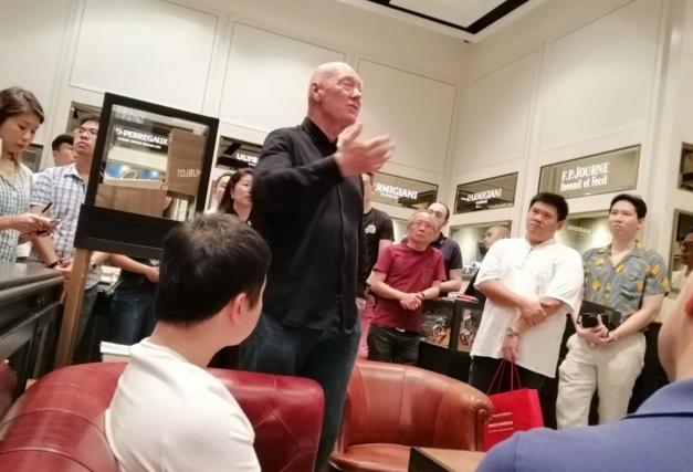 Jean-Claude Biver à Singapour à L'Atelier The Hour Glass, copyright Montres de luxe