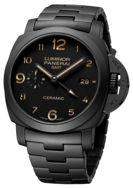 Officine Panerai Luminor 1950 3 Days GMT Automatic Ceramica 44 mm : Tuttonero… Noir c'est noir !