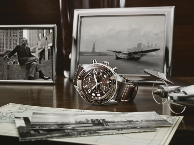 "IWC Aviateur Timezoner Chrono édition ""80 years flight to New York"""