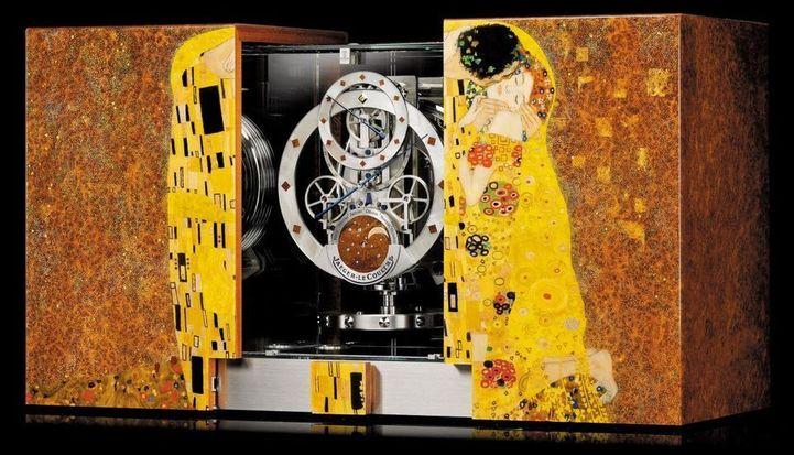 Jaeger-LeCoultre Atmos Marqueterie : hommage à Gustav Klimt