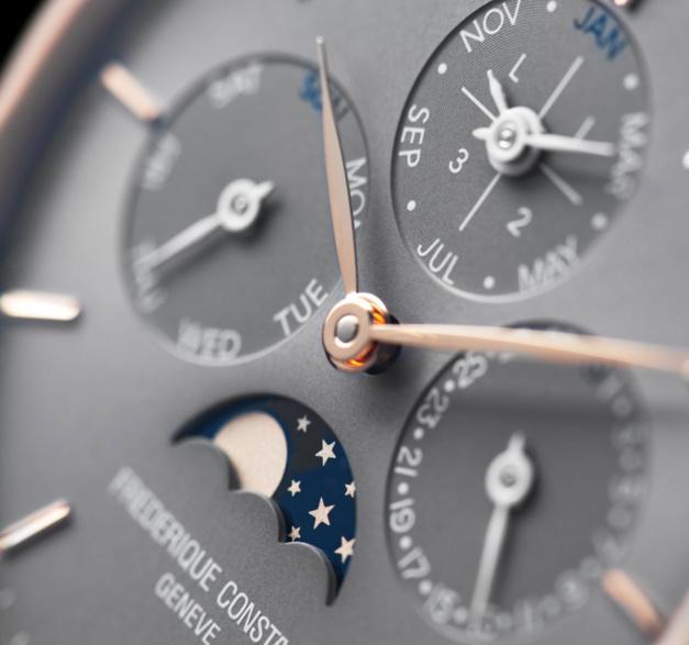 Frédérique Constant Slimline Manufacture Quantième Perpétuel : nouveau cadran gris