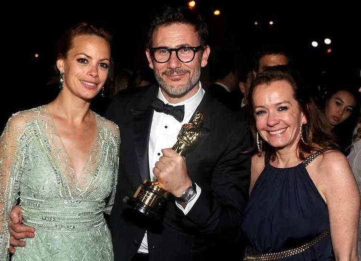 Bérénice Béjo, Michel Hazavanicius et Caroline Scheufele