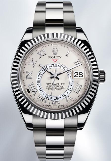 Rolex Oyster Perpetual Sky-Dweller en or gris