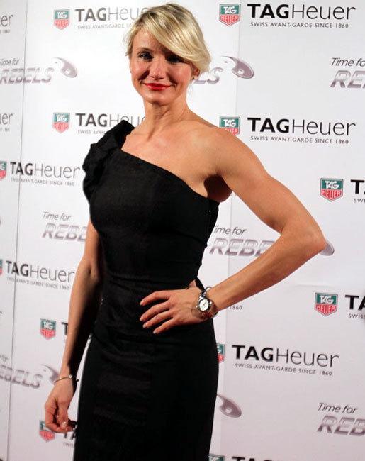 Cameron Diaz porte la Link Lady TAG Heuer