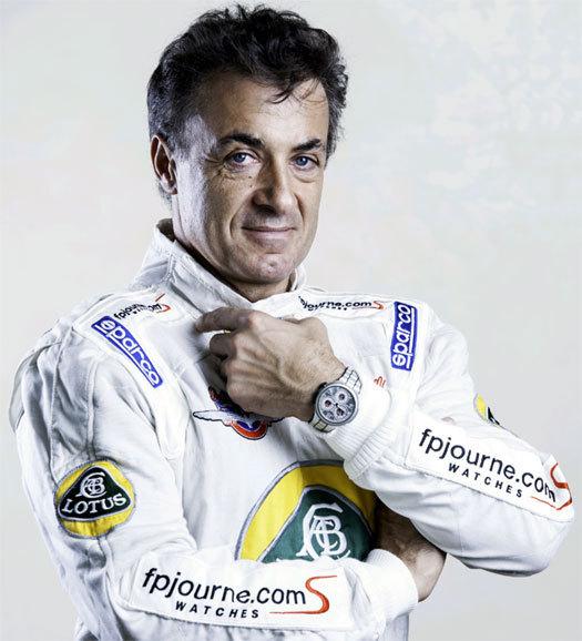 F.P. Journe : le Centigraphe Sport au poignet du pilote grenoblois Jean Alesi