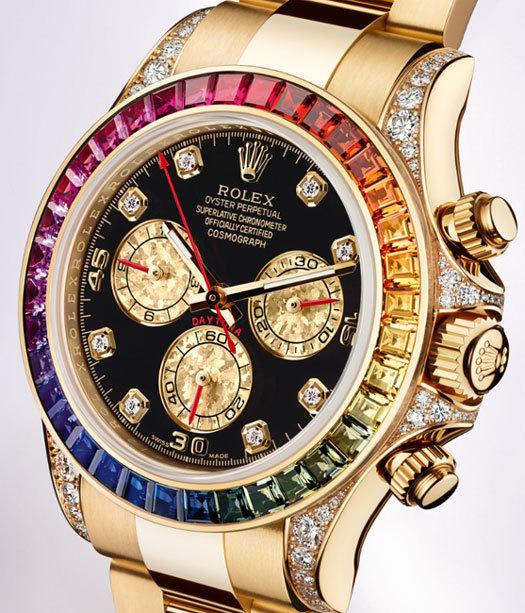 Rolex : une Oyster Perpetual Cosmograph Daytona aux couleurs de l'arc-en-ciel