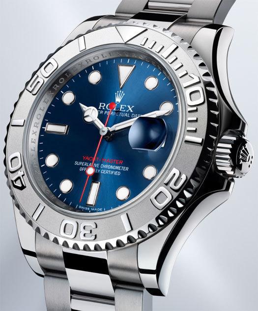 Rolex Oyster Perpetual Yacht-Master cadrab bleu soleil