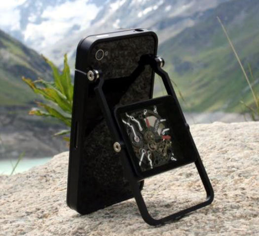 WATCHe : offrir à votre iPhone une coque équipée d'une montre mécanique…