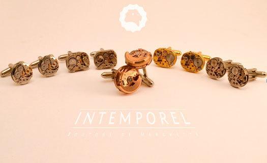 InTemporel : les boutons de manchette créés à partir de véritables calibres horlogers vintage