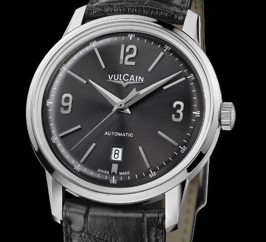 Vulcain 50s Presidents' Classic version acier cadran anthracite