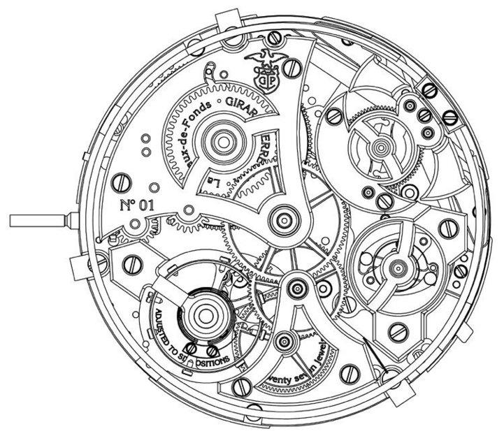 Girard-Perregaux 1966 Répétition Minutes : l'aboutissement