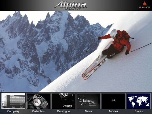Alpina lance son application iPad