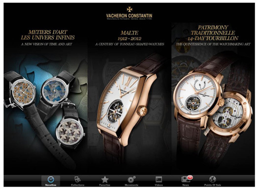 Vacheron Constantin dévoile son application iPad