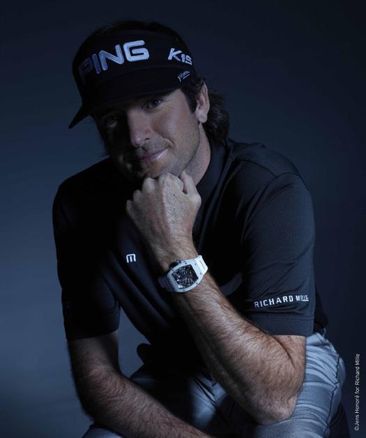 Bubba Wqatson portant une Richard Mille RM 055