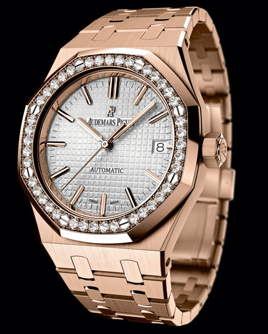 Audemars Piguet Royal Oak Automatique 37 mm : or rose et diamants