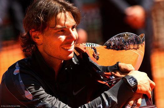 Rafael Nadal : 8ème titre consécutif à Monte-Carlo, avec sa Richard Mille RM 027 au poignet