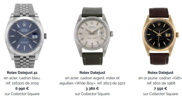 Collector Square : focus sur la Datejust de Rolex