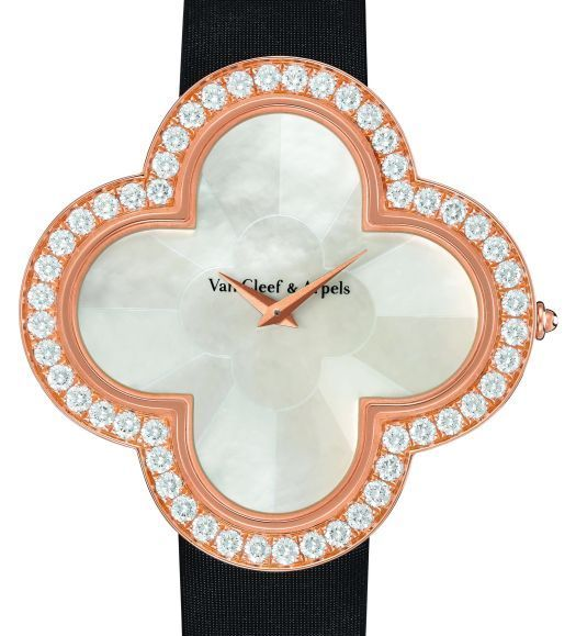 n Cleef & Arpels Alhambra Talisman, or rose, nacre et diamants