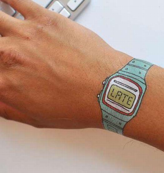 Tattly : montres « tatouage » façon Casio Vintage