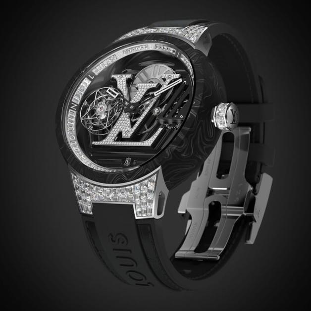 Louis Vuitton Tambour Curve Tourbillon Volant Poinçon de Genève : à l'heure du logo