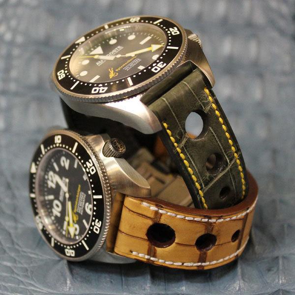 Les chronos Auricoste habillés par l'Atelier du bracelet parisien