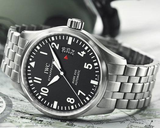 IWC Montre d'Aviateur Mark XVII sur bracelet acier
