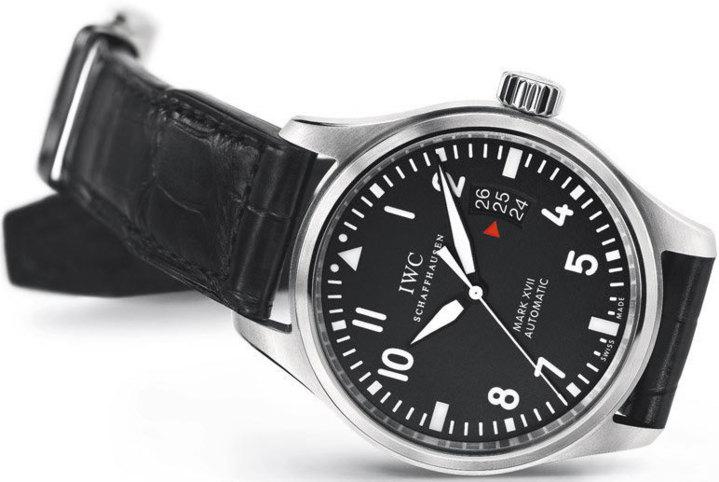 IWC Montre d'Aviateur Mark XVII sur bracelet croco