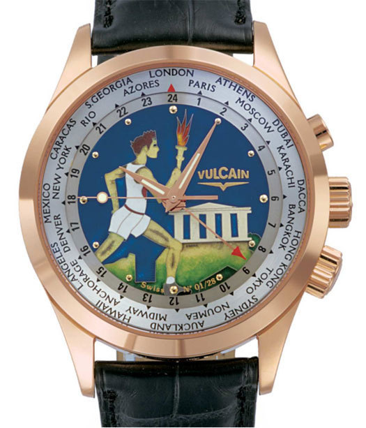 Vulcain Cricket Aviator GMT « Hephaïstos » : hommage aux Jeux Olympiques