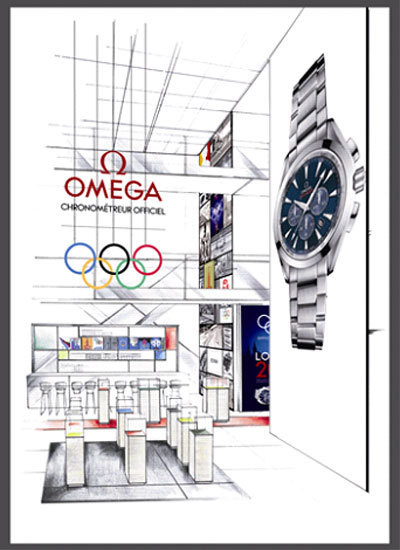 Omega : un pop-up store unique et original au Printemps Hausmann pendant les JO