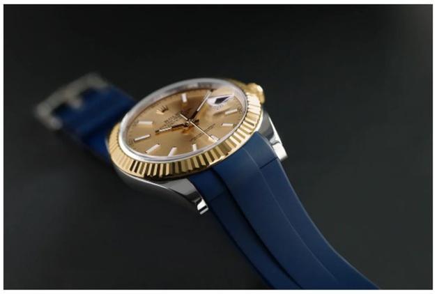 Rubber B lance un bracelet en caoutchouc pour les Rolex Datejust 41