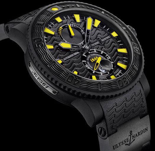 Black Sea Ulysse Nardin : jaune et noir, les couleurs de la plongée…