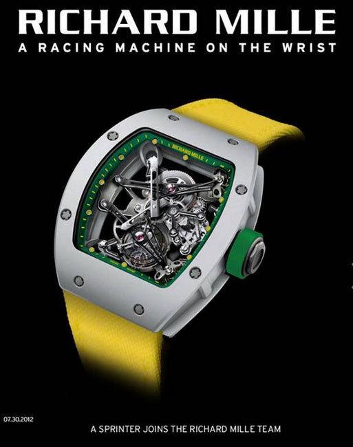 Yohan Blake : une montre Richard Mille au poignet ?
