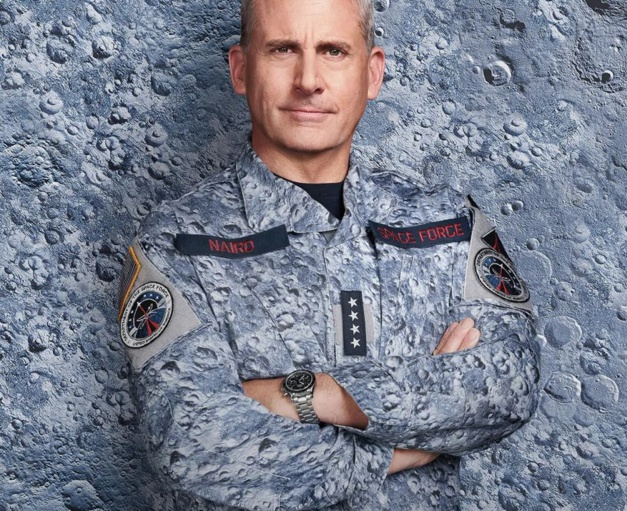 Space Force Steve Carell et sa Speedmaster Copyright Netflix