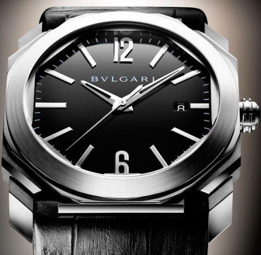 e8c6943c39f L Octo de Bulgari est une montre… ni ronde ni carrée. Mais elle s annonce  comme étant « la symbiose harmonieuse et équilibrée des deux formes  primitives ...
